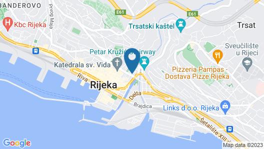 Number 1 Apartments Rijeka Map