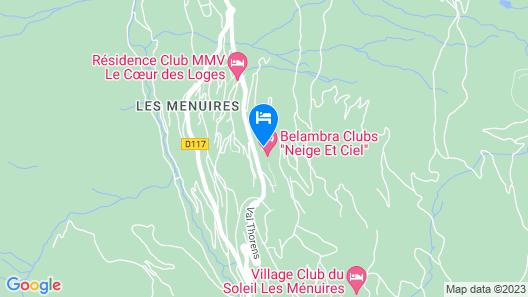 Belambra Clubs Les Menuires - Neige et Ciel Map