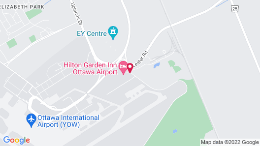 Hilton Garden Inn Ottawa Airport Map