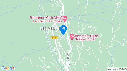 CGH Résidences & Spas Les Clarines Map