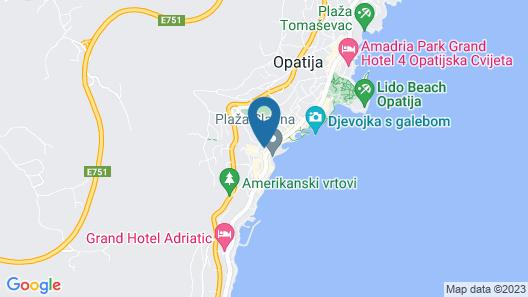 Villa Abbazia - Liburnia Map