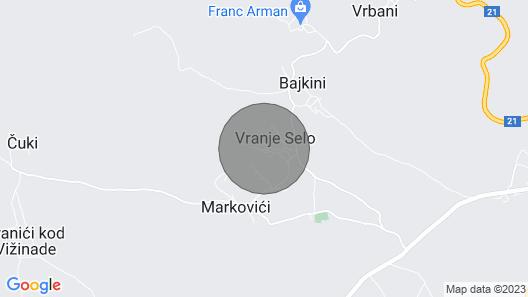 Villa Vista Mare Vranje Selo, Vižinada, Central Istria Map