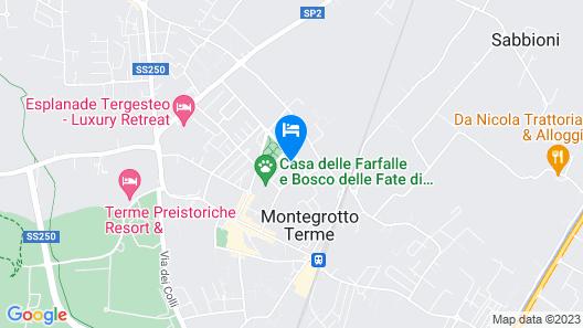 Villa in Montegrotto Terme, Convenient to Padua, Venice and Verona Map