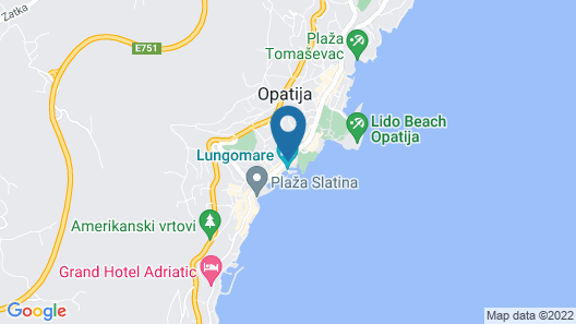 Amadria Park Milenij Map