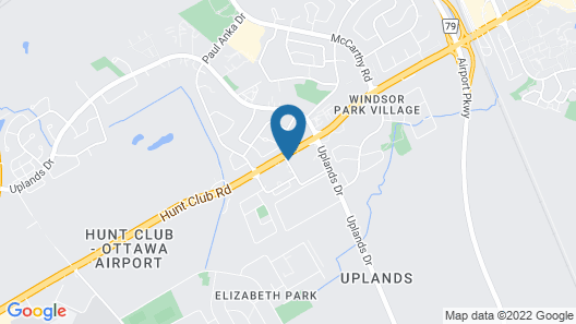 Hampton Inn by Hilton Ottawa Airport, ON, CN Map