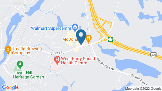 Comfort Inn Parry Sound Map