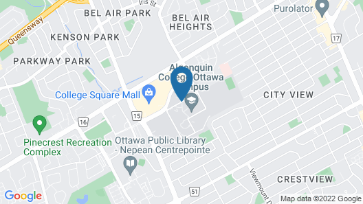 Residence & Conference Centre - Ottawa West Map