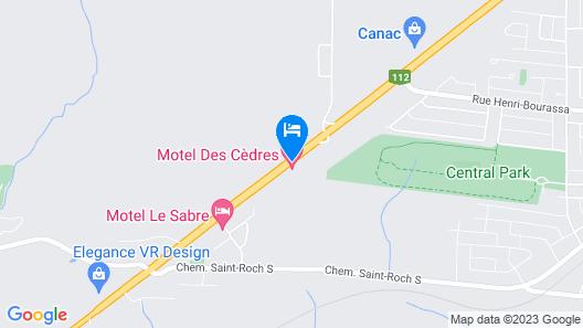 Motel des Cèdres Map
