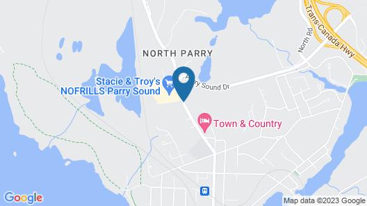 Best Value Inn & Suites Parry Sound Map