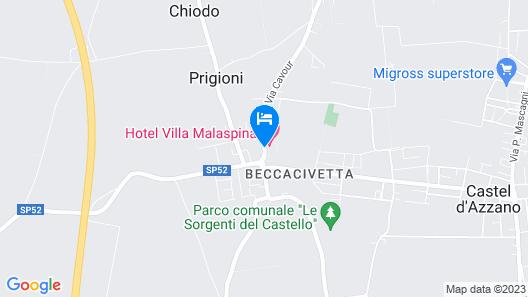 Hotel Villa Malaspina Map