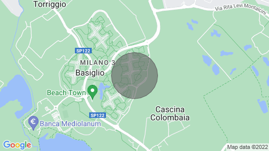 Short term rentals in MI3 near the HUMANITAS Clinic in the Residence Campo 5 Map