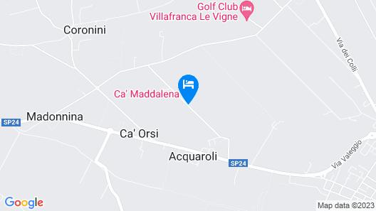 Ca' Maddalena Map
