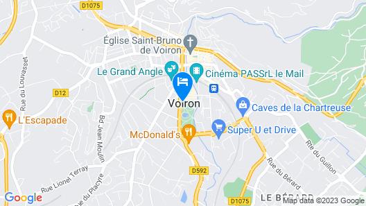 Hotel Kyriad Voiron Chartreuse - Centr'Alp Map