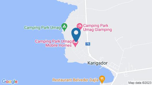 Mediteran Mobile Homes Camping Park Umag Map