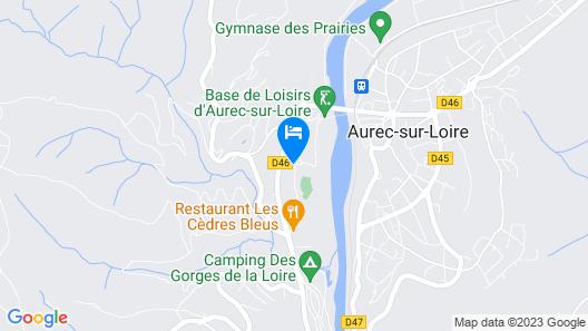 Logis Hôtel les Cèdres Bleus Map