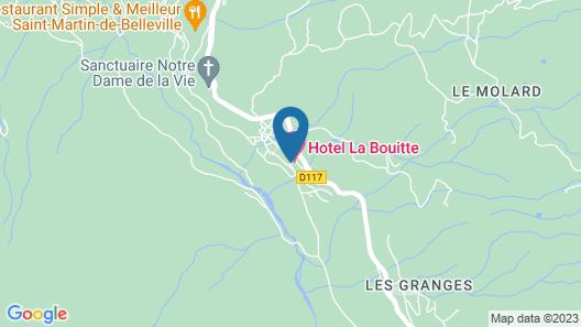 Hotel Restaurant La Bouitte - Relais & Châteaux - 3 étoiles Michelin Map