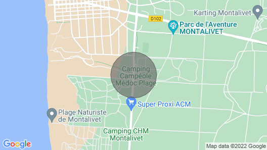 Oceanbahia12 Rental Luxury 6 Pers Club 5 Clim Montalivet Aquitaine Map