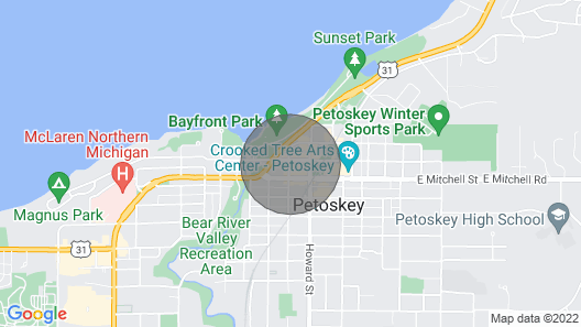 Sunset Glory -best Views Of The Bay In Downtown Petoskey - Where You Want To Be! Map
