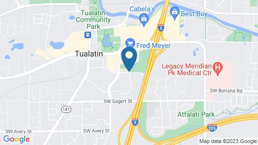 Comfort Inn & Suites Tualatin - Lake Oswego South Map