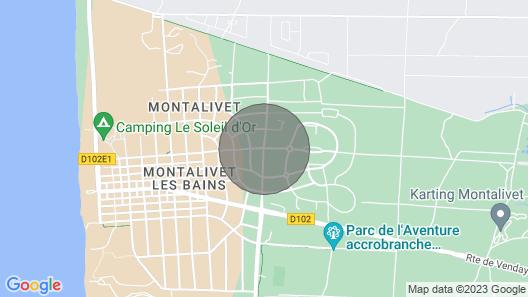 Villa 4 p Family or Lovers Quiet Area / Garden / Parking Fenced / Sea 950 Map