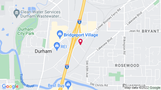 Motel 6 Tigard, OR - Portland South - Lake Oswego Map