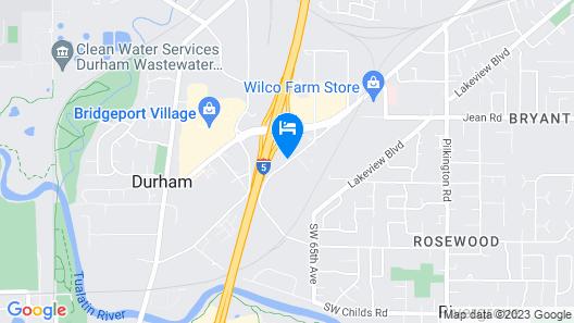 Motel 6 Portland, OR - Tigard West Map