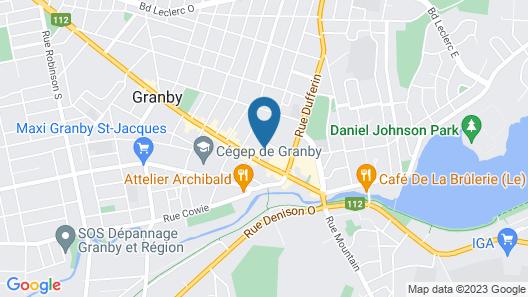Les Suites du Centre-Ville Map