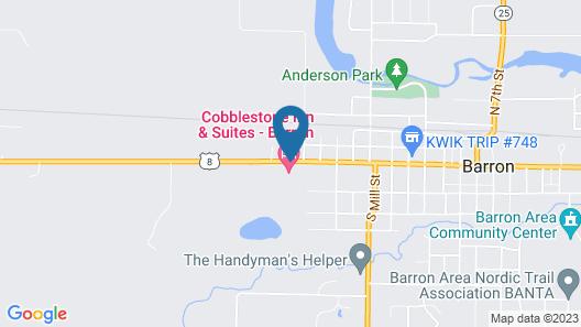 Cobblestone Inn & Suites - Barron Map