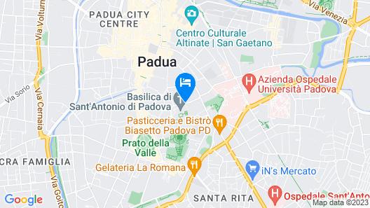 Hotel Casa del Pellegrino Map