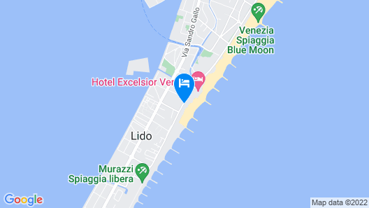 Hotel Excelsior Venice Map