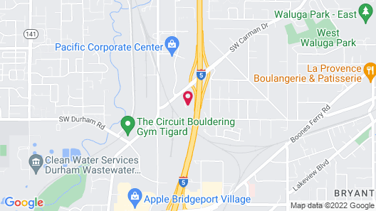 Holiday Inn Express Portland South-Lake Oswego Map