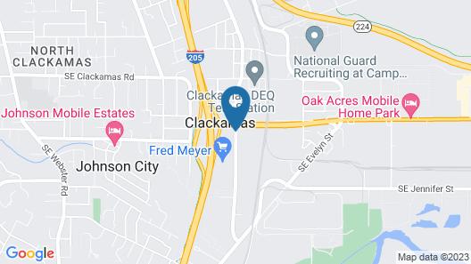 Clackamas Inn & Suites Map