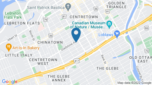 Ottawa Sleep Inn Map