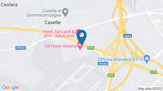 DB Hotel Verona Airport and Congress Map