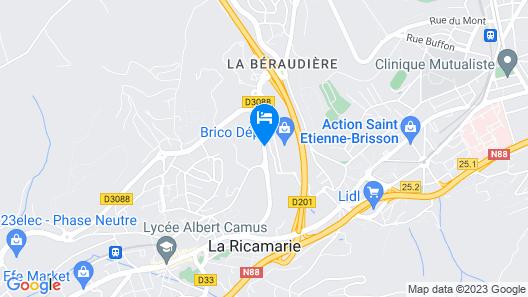The Originals City, Hôtel L'Acropole, Saint-Etienne Sud (Inter-Hotel) Map