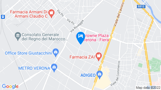 Crowne Plaza Verona Fiera Map