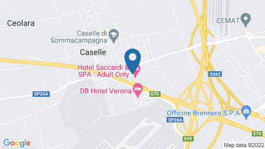 Hotel Saccardi & Spa Map