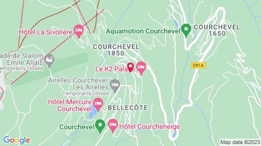 Hôtel Barrière Les Neiges Courchevel Map