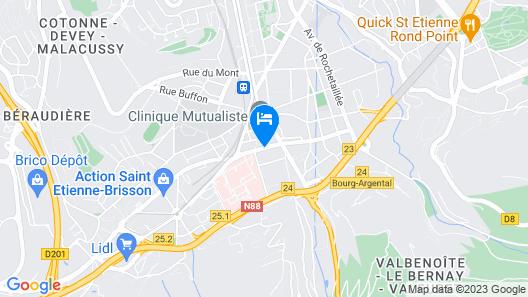 Hotel Du Midi Map