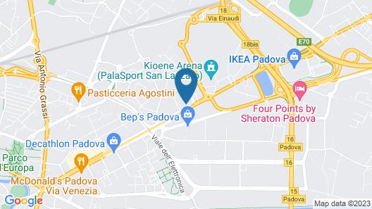 Best Western Plus Net Tower Hotel Padova Map