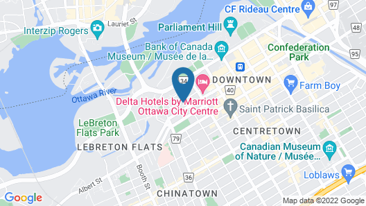 Holiday Inn Ottawa Dwtn - Parliament Hill, an IHG Hotel Map