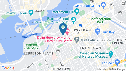 Homewood Suites by Hilton Ottawa Downtown Map