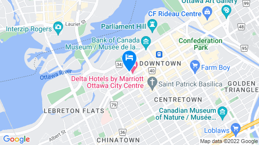 Delta Hotels by Marriott Ottawa City Centre Map