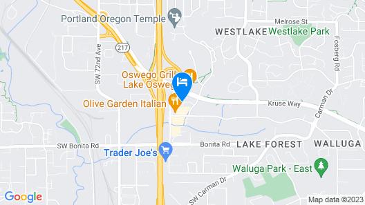 Crowne Plaza Portland-Lake Oswego, an IHG Hotel Map