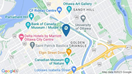 Ottawa Embassy Hotel & Suites Map