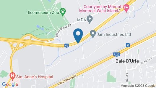 Courtyard by Marriott Montreal West Island/Baie D'Urfe Map
