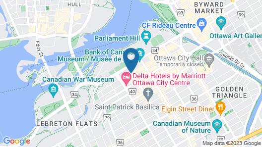 Ottawa Marriott Hotel Map