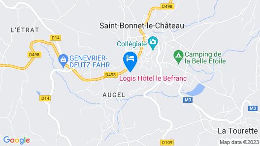 Hôtel le Befranc Map