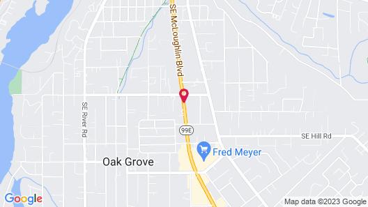 Milwaukie Inn Portland South Map