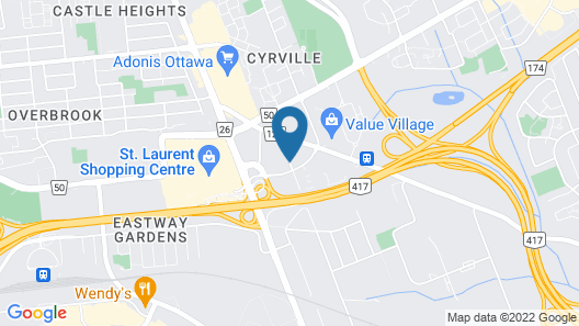 Welcominns Hotel Ottawa Map